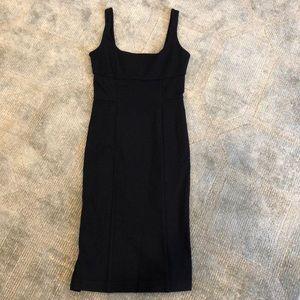 Diane Von Furstenberg navy stretch sheath dress
